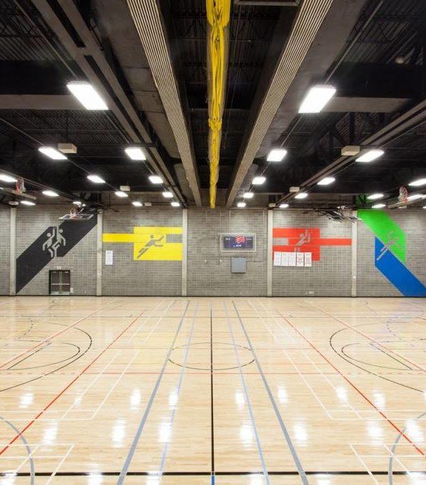 Centre Etienne Desmarteau - Plancher de gymnase
