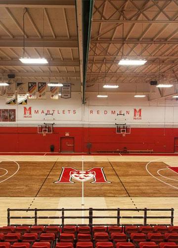 Gymnasium floor system
