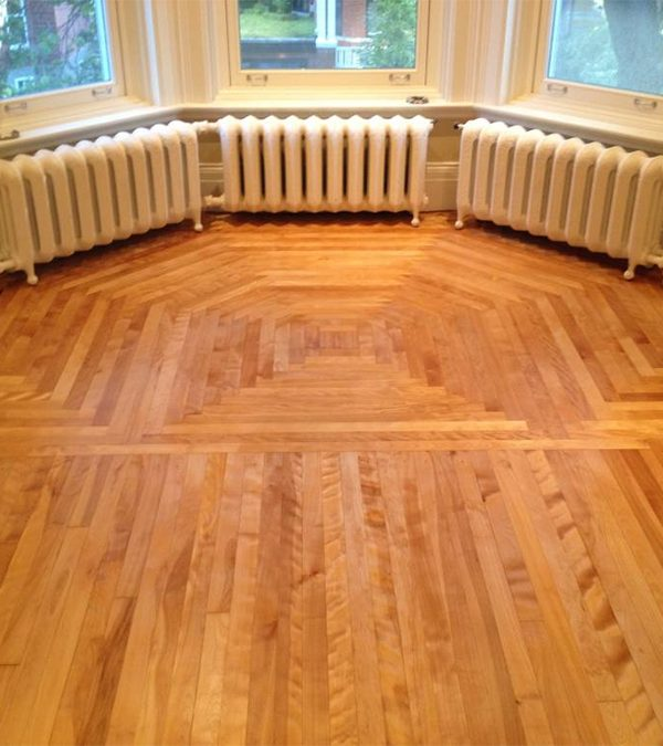 Restauration de plancher en merisier